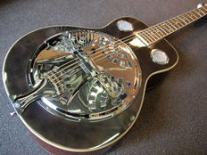 ChS Spider Resonator, colour Blackburst, with bag, dobro model