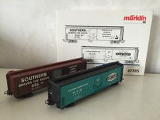 Märklin H0 - 47785 - Two-piece set of freight cars from the American Railways.