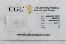 0.62 ct brilliant cut diamond  G  I3  ** Low Reserve **