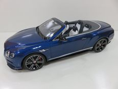 GT-Spirit - Scale 1/18 - Bentley Continental GT V8 S Convertible - Blue