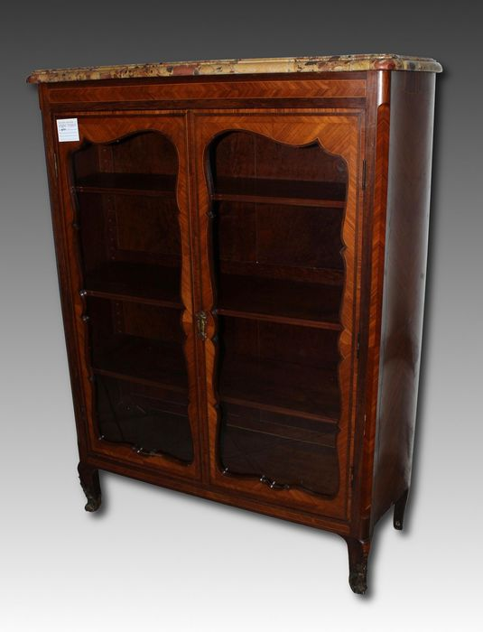 A Napoleon III tulipwood and rosewood display cabinet - France - second half of the 19th century