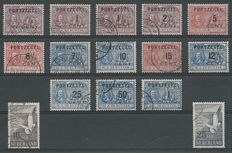 The Netherlands 1906/1951 – Postage due stamps De Ruyter and Airmail Seagulls – NVPH P31/P43 + LP12/LP13