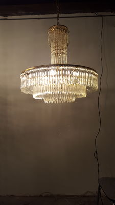 Crystal chandelier - late 20th century