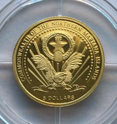 USA – 5 Dollars 2004, Commonwealth of the Northern Mariana Islands, Euro-motif 'Spain'