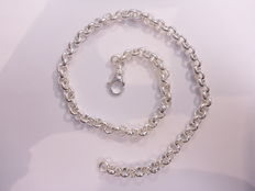 Silver necklace with Jasseron link – .925 – 51 cm – 45 g