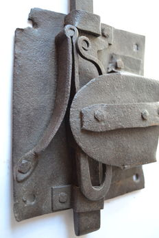 Skeleton lock with one bolt, wrought iron, France, end of the XVI th century