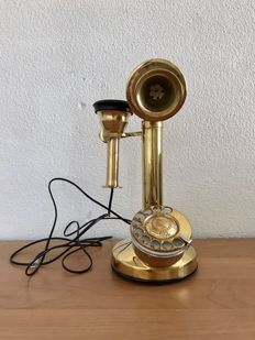 Vintage brass telephone - working - 2nd half of 20th century