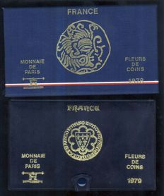 France – Monnaie de Paris – Lot of 2 FDC 1978 & 1979 box sets