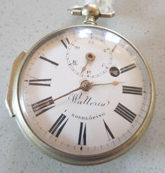 Wallerin Norrköping – big spindle / pocket watch – two dials – around 1800