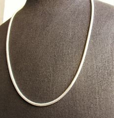 Sterling silver women's necklace, 925, length 60 cm