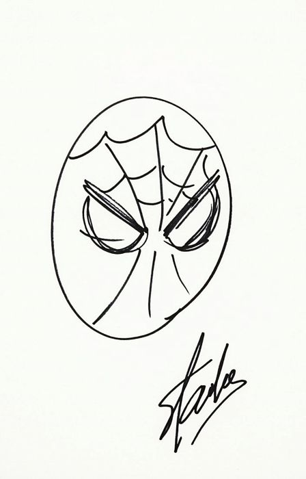 spiderman sketch originale di stan lee firmato catawiki