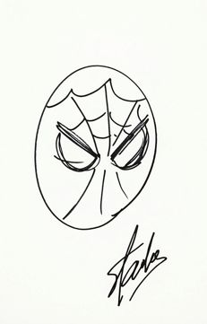Spiderman - original Sketch of Stan Lee, signed