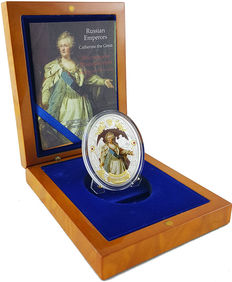 """Niue - 2 dollars, 2014 - """"Catherine the Great"""" - Russian Emperors series - 2 oz silver"""