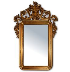 A Napoleon III gilt wood wall mirror - probably France - second half of the 19th century