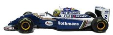 Ayrton Senna Foundation - Scale 1/18 - Williams FW15 Formula 1 'Rothmans' - Driver: Ayrton Senna
