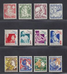"The Netherlands, 1930-1932 - ""Kinderzegels"" (children's stamps) - NVPH 232-235, 240-243, 248-251"