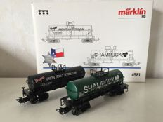 "Märklin H0-4581 - USA 4-axle tank wagon set ""150 Jr. Texas"""