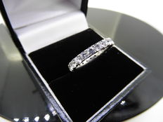 18k Gold Full Diamond Band Ring - 2.00ct - Size 52