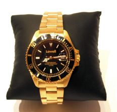 LOWELL - Made in Modena, Italy - Model: Sub Mariner - 18 kt gold-plated - Perfect