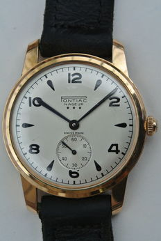 Pontiac Nageur - men's wristwatch - 1950s-1960s.