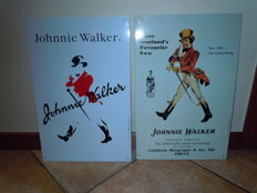 2 metal signs, advertising for Johnnie walker - 1940/1996