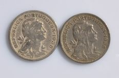 Portugal - 50 centavos 1935 and 1938 two coins key dates