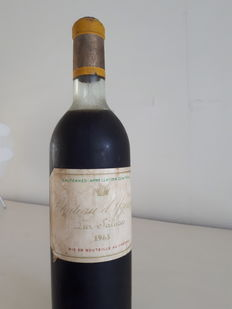 1963 Chateau d'Yquem Lur Saluces, Sauternes 1er Cru Superieur - 1 bottle