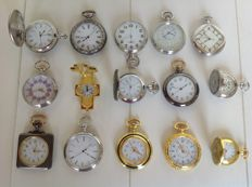 Timepieces - fine collection of 15 pocket watches