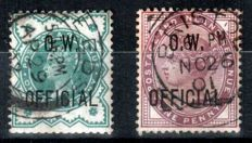 Great Britain 1896/1903 - O.W. and Admiralty Official - small set