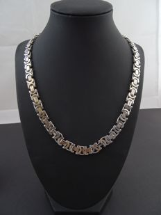 Silver 925 kt, king's braid link necklace, 54.8 cm.