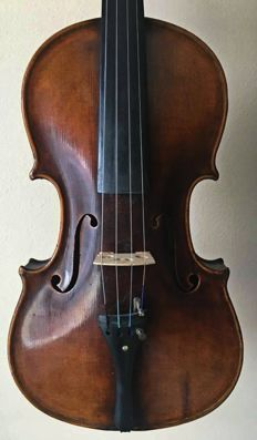 Old antique interesting violin with italian label