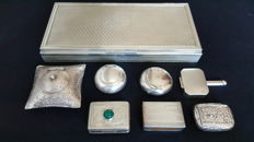 A set of smoking silver items - Italy