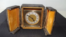 Travel clock with alarm function in case - Zenith - Approx. 1885