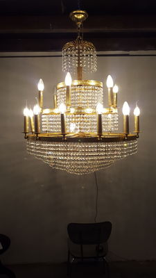 Large crystal chandelier, late 20th century