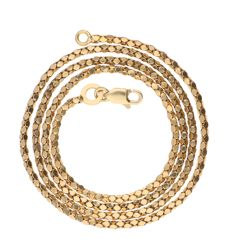 18 kt yellow gold popcorn link necklace – Length: 44.2 cm