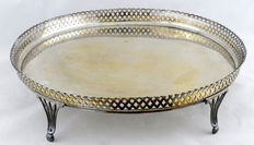 SECO. Multipurpose tray in antique silver, Spain. 19th Century.
