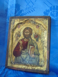 Old icon, likely from Italy, ca 1950-1960, handmade