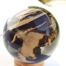 Unusual Mexican Amber sphere - 60mm - 112gm