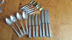 Mixed silver cutlery set 800/1000