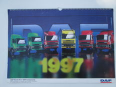 DAF Netherlands, lot of 6 Posters + 1 yearly calendar 1997 + Paris-Dakar sticker