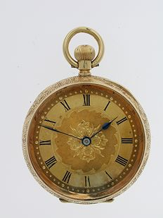 Omega open face pocket watch Swiss 1920