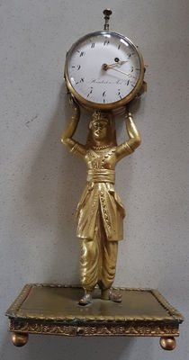 Humbert a Aix - table - verge clock - with quarter repeater - France 1830