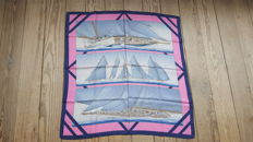 """Collector's Scarf: Hermès – """"Rafales"""" designed by Yannick Manier in 1988"""