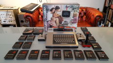 Philips G7000 VideoPac Boxed 1978 with original Philips joystick and 19 games