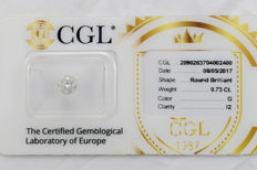 0.73 ct brilliant cut diamond  G  I2  ** Low Reserve **