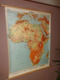 "Old intact school map of ""Africa"""