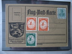 German Empire/Reich 1912 – air mail – Michel no. I/III