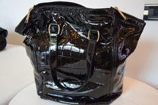 "Yves Saint Laurent, ""Rive Gauche"" – patent leather shoulder bag"