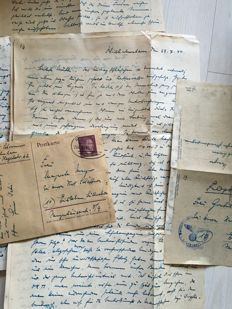 Military mail: more than 150 letters and postcards