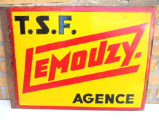 Two-sided enamel sign - TSF LEMOUZY - Beginning of the 20th century